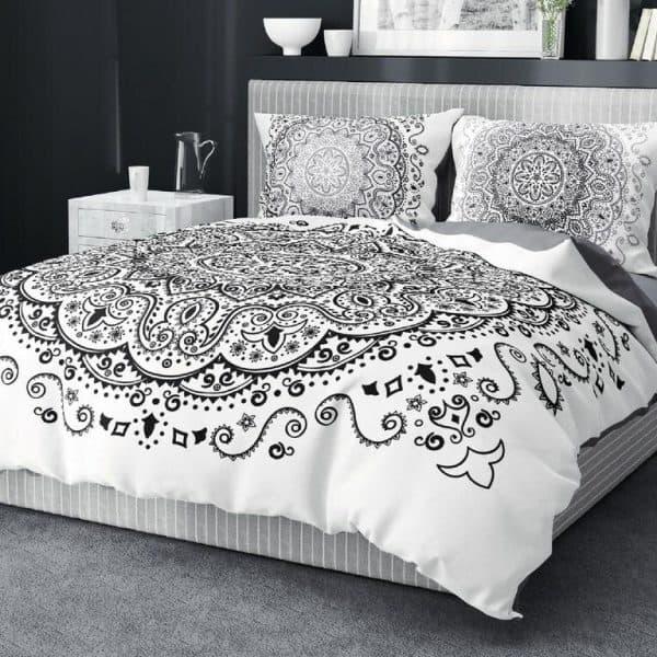 bavlnene obliecky cierna mandala