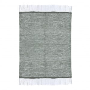 sivozelena deka so strapcami 130 x 150 cm