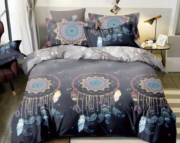 postelne obliecky lapac snov sive